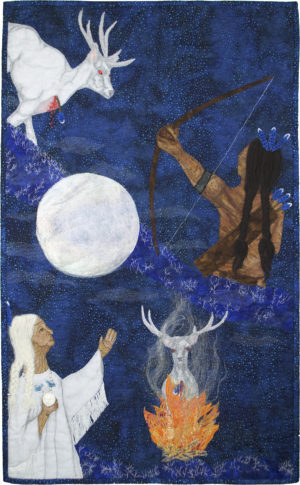 Chicksaw Legend - Bright Moon and Blue Jay by Laura C Gilmartin