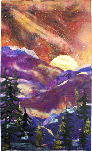 Cosmic Moon Over the Mountain by Linda S. Hoffmeister