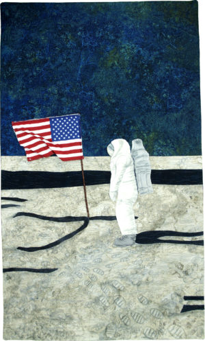 The Stars and Stripes on the Moon by Sarah Entsminger